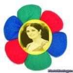 Crea un fotomontaje online en una flor de tela