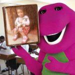 Marco de fotos con Barney y sus amigos