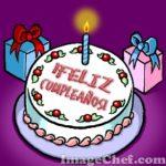 Felicitaciones de cumpleaños en tortas