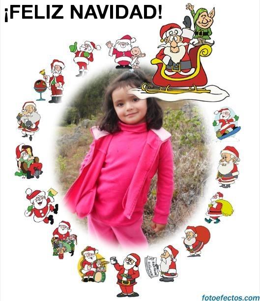 Fotomontaje con Papa Noel
