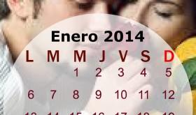 Calendario mensual del mes de enero del 2014