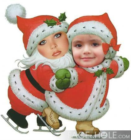 Fotomontajes infantiles de papa noel para navidad