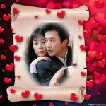 Edita tu foto en un marco para fotos de amor