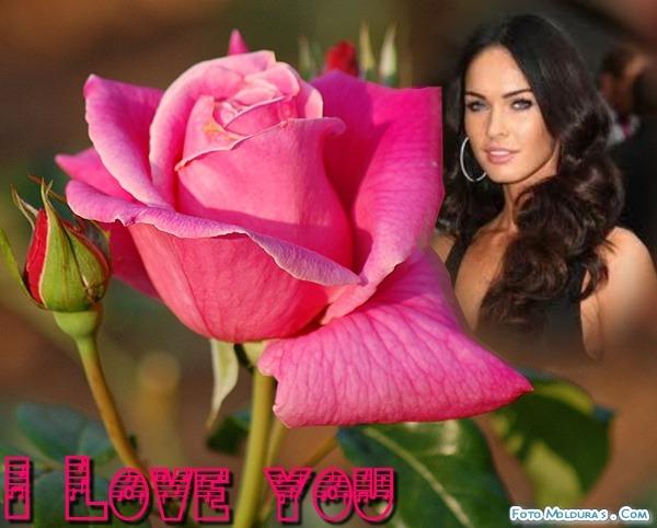 Fotomontaje de amor con una rosa