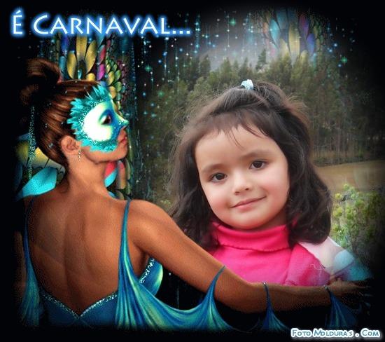 Fotomontaje alusivo al carnaval gratis