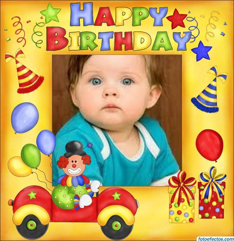 Fotomontaje infantil de cumpleaños