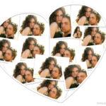 Collage de corazón para enamorados