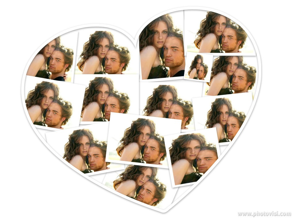 collage en corazón