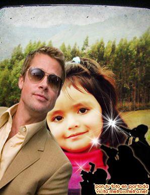 Editar fotos gratis con Brad Pitt