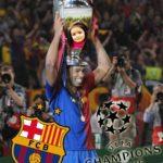Fotomontaje en la copa de la UEFA  Champions League