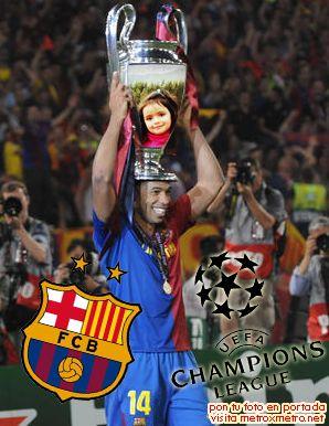 Fotomontaje en la copa champions league