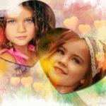 Efectos de corazones para fotos gratis