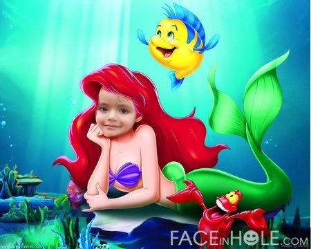 fotomontajes infantiles en el rostro de ariel