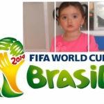Marco de fotos con el logo del mundial Brasil 2014