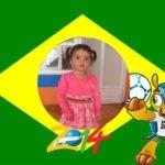 Fotomontaje con el muñeco del mundial 2014