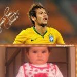 Fotomontaje con Neymar jugador de fútbol de Brasil
