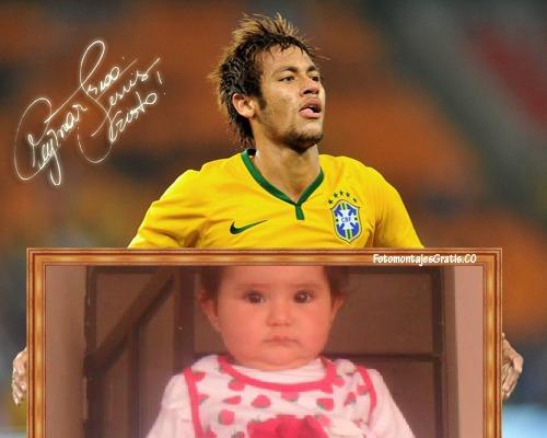 Fotomontaje con neymar jugador brasileño