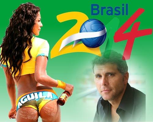Fotomontaje mundial brasil 2014 con sexy chica