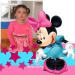 Maco de fotos infantiles con minnie