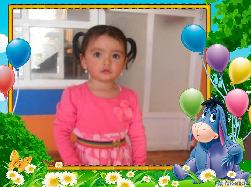 marco de fotos para cumpleaños infantil