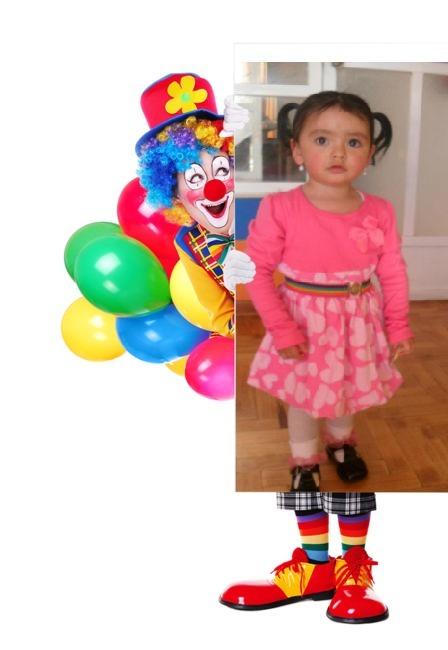 Fotomontaje de cumpleaños con un payaso