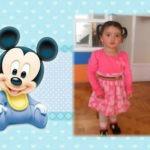 Marco de fotos junto a mickey baby