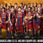 Fotomontaje en el rostro del capitán del equipo del club barcelon