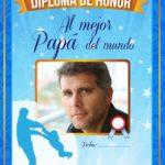Diploma de honor para el mejor papá por su día