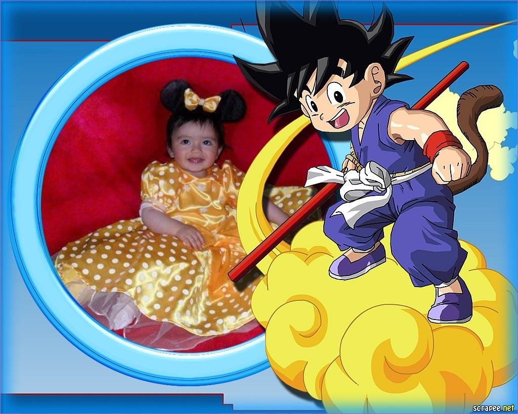 fotomontajes infantile con goku