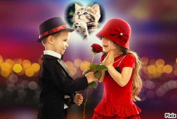 Romantico marco de fotos por san valentín