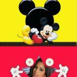 El personaje más famoso mickey mouse en tus marcos para fotos