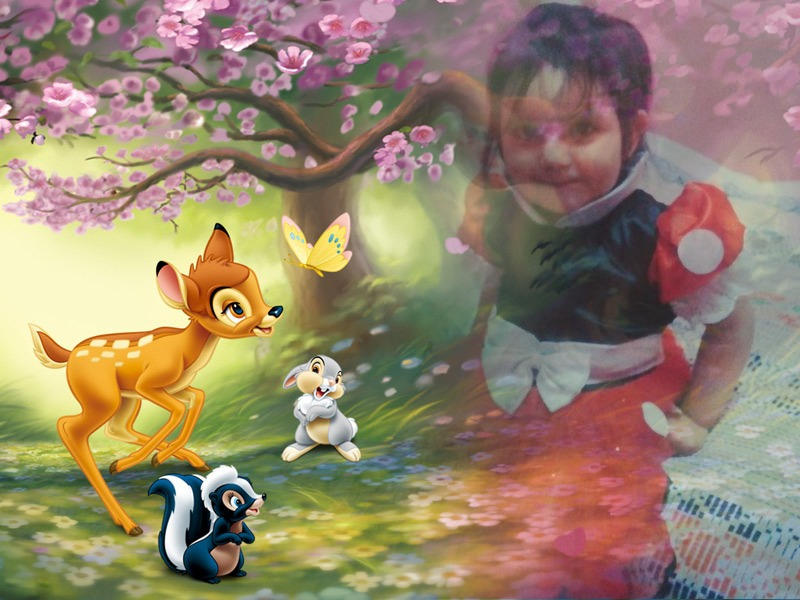 El mejor fotomontaje infantil con bambi
