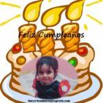 Torta de cumpleaños para colocar tu foto