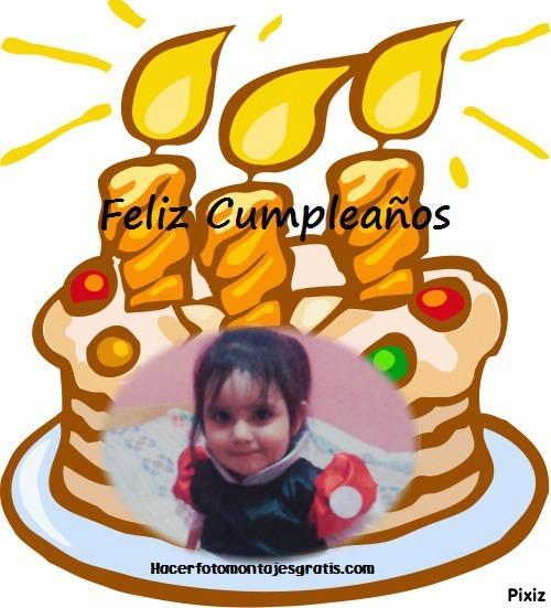 torta de cumpleaños con una foto