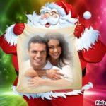 Fotomontaje online para colocar una foto en el saco de Papá Noel