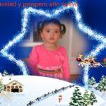 Estrella de navidad para colocar tu foto gratis