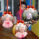 Bolas de navidad para tres fotos