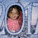 Fotomontaje con nieve para año nuevo 2017