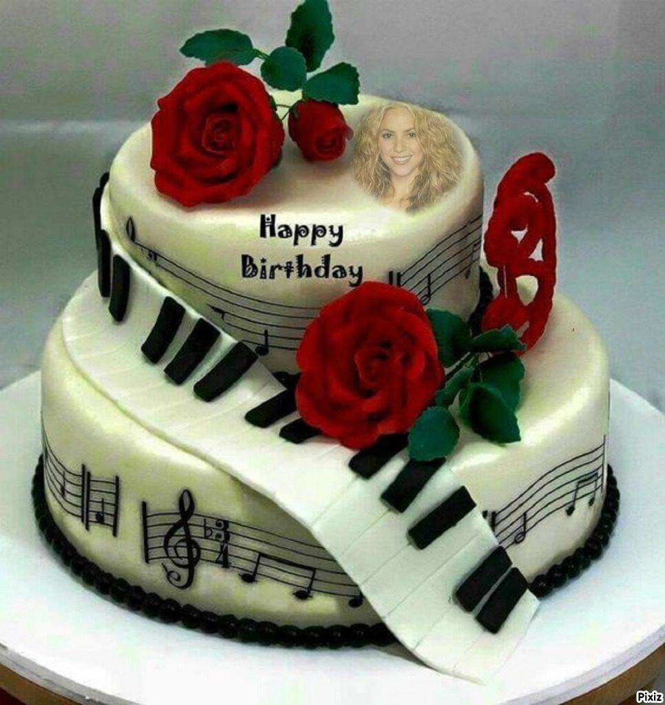 Fotomontae en torta de cumpleaños