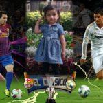 Fotomontaje junto a los mejores jugadores del mundo
