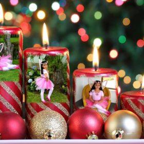 Adornos con velas navideñas